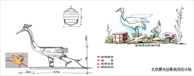 仙鹤小品景观设计