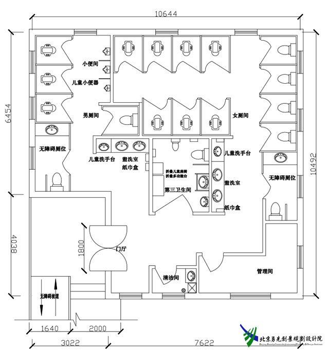 卫生间浴室平面图