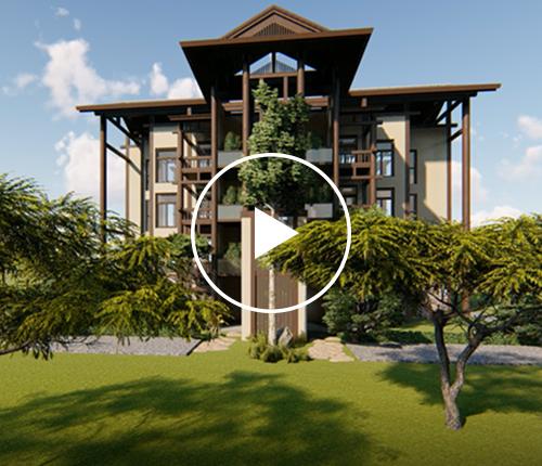 田园享老=中式洋房+野趣庭院